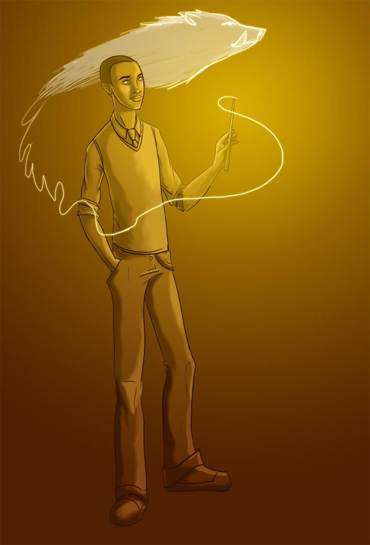 Jeu des dessins HP! ^^ - Page 2 HP__Dean__s_Patronus_by_Pen_umbra