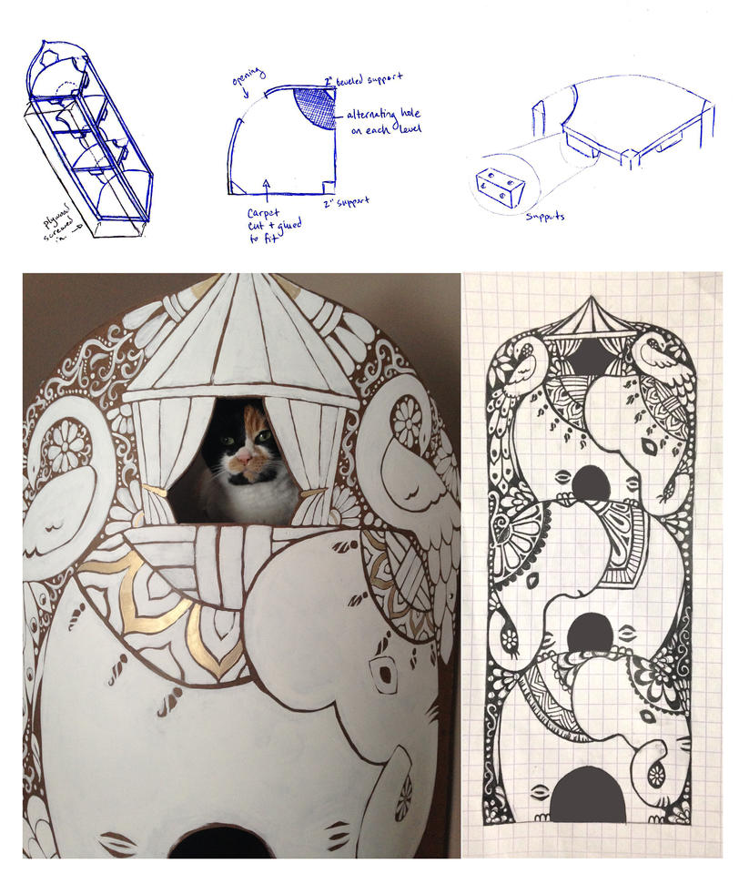 Cat Tower Plans by Pen-umbra