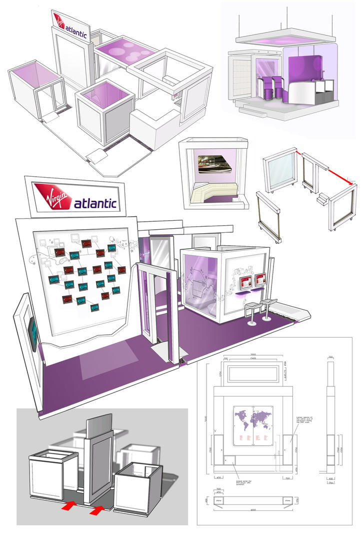Exhibition Stand Drawing : Vaa exhibition stand bts by hesir on deviantart