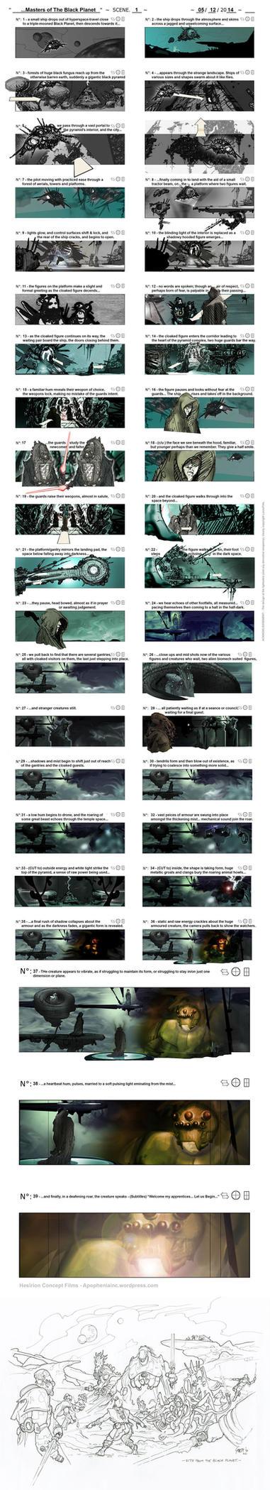 Black Planet - Storyboard 001 by hesir