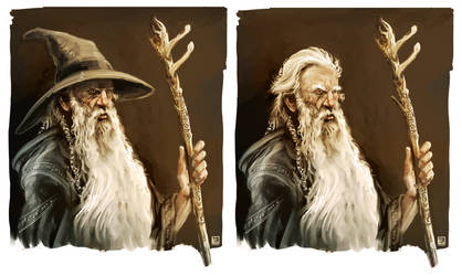 Mithrandir - with and without his hat.
