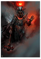 Morgoth with his Crown of Silmarils - 001