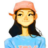 Pink Cap by samuelyounart