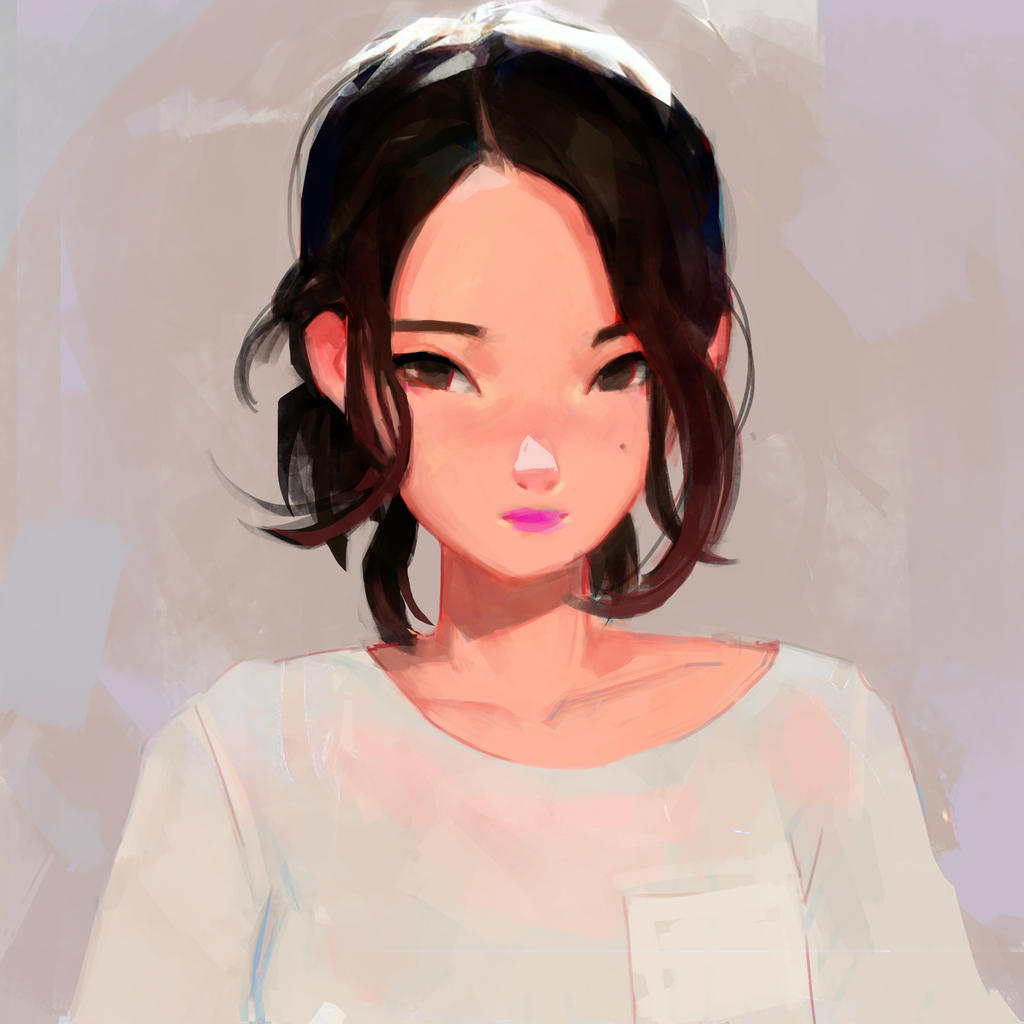 Anime girl with short hair tumblr