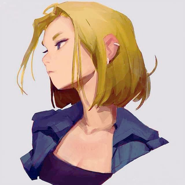 Android 18 And Tail Deviantart: Android 18 By Samuelyounart On DeviantArt