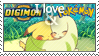 Love Digimon and Pokemon Stamp by Mysticom