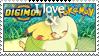 Love Digimon and Pokemon Stamp by Mysticom