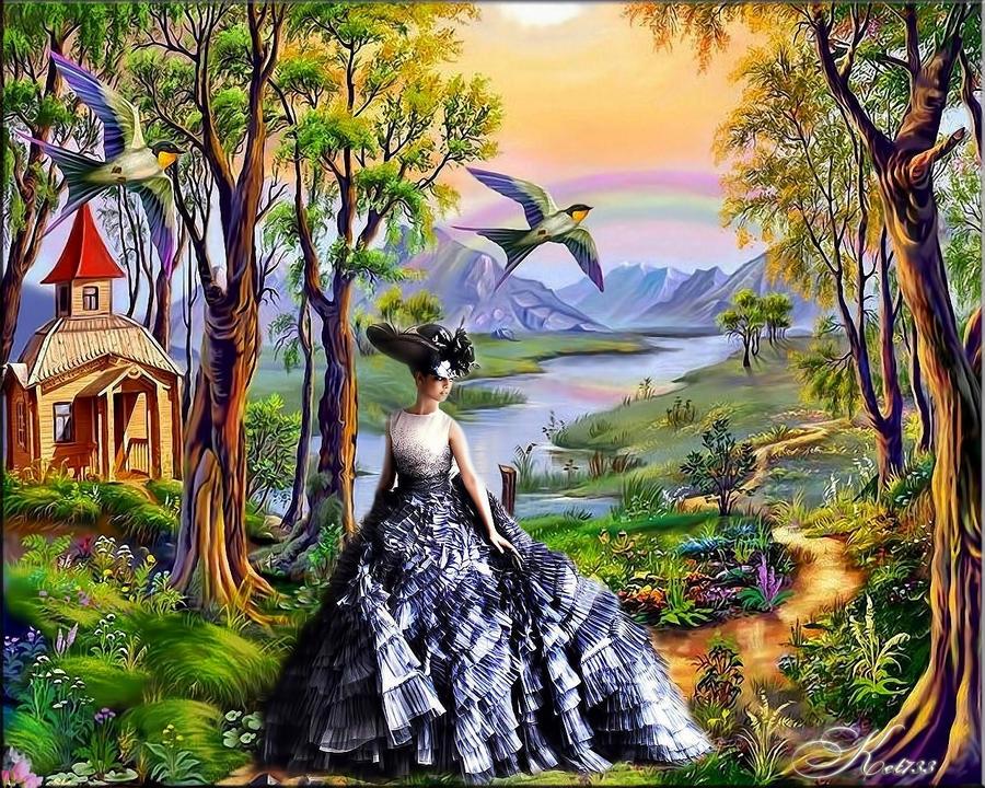 нарисованные картинки пейзажи