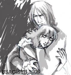 Snape and Hermione in Grey by usagistu