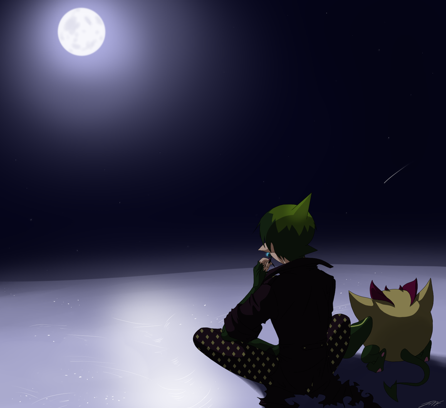 :: Snowy moonlight :: by Akuma-no-Atisuto