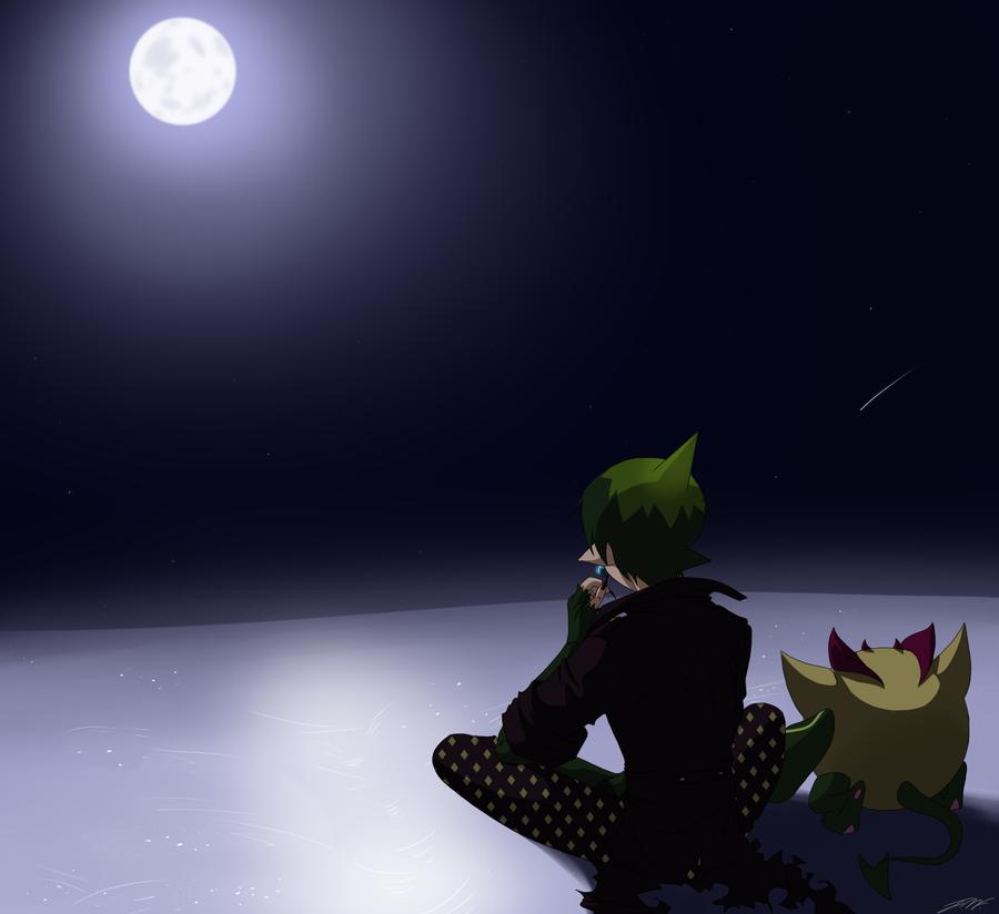 :: Snowy moonlight :: by Akuma-no-Atisuto