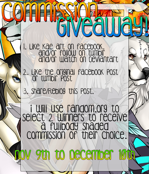 [ Contest ] - Free Commission Giveaway! Open by Kae-Art