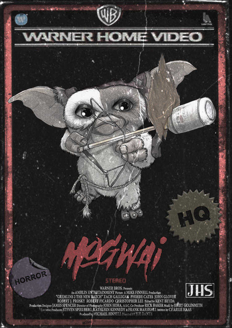 Retro VHS Cover - Mogwai ( UNCUT ) by Crow-Dreamer