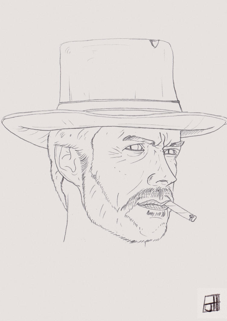EastWood - The Man with no Name. by Crow-Dreamer