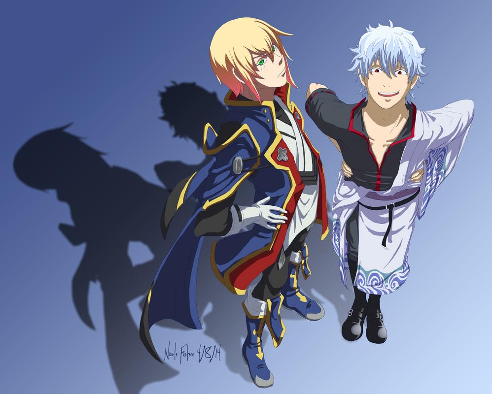 Gintoki and Jin by Sorahari-chan