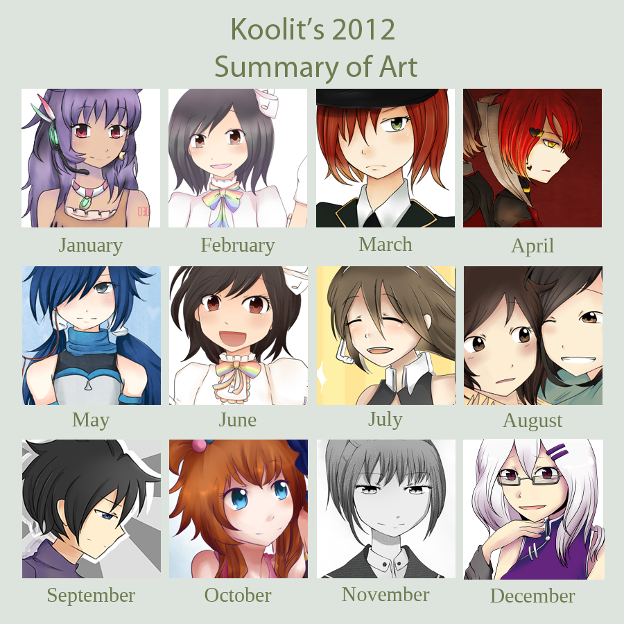 2012 Summary of Art by koolit13