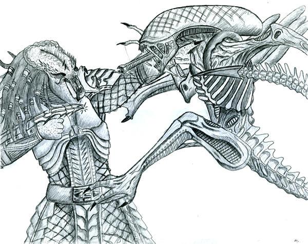 aliens vs predator drawings - photo #19