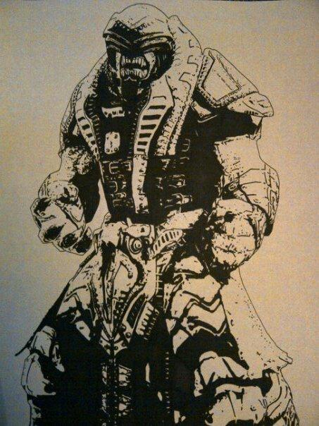 Gears of War 3: Series 3 Savage Theron {Version 1} [Black & Silver ...