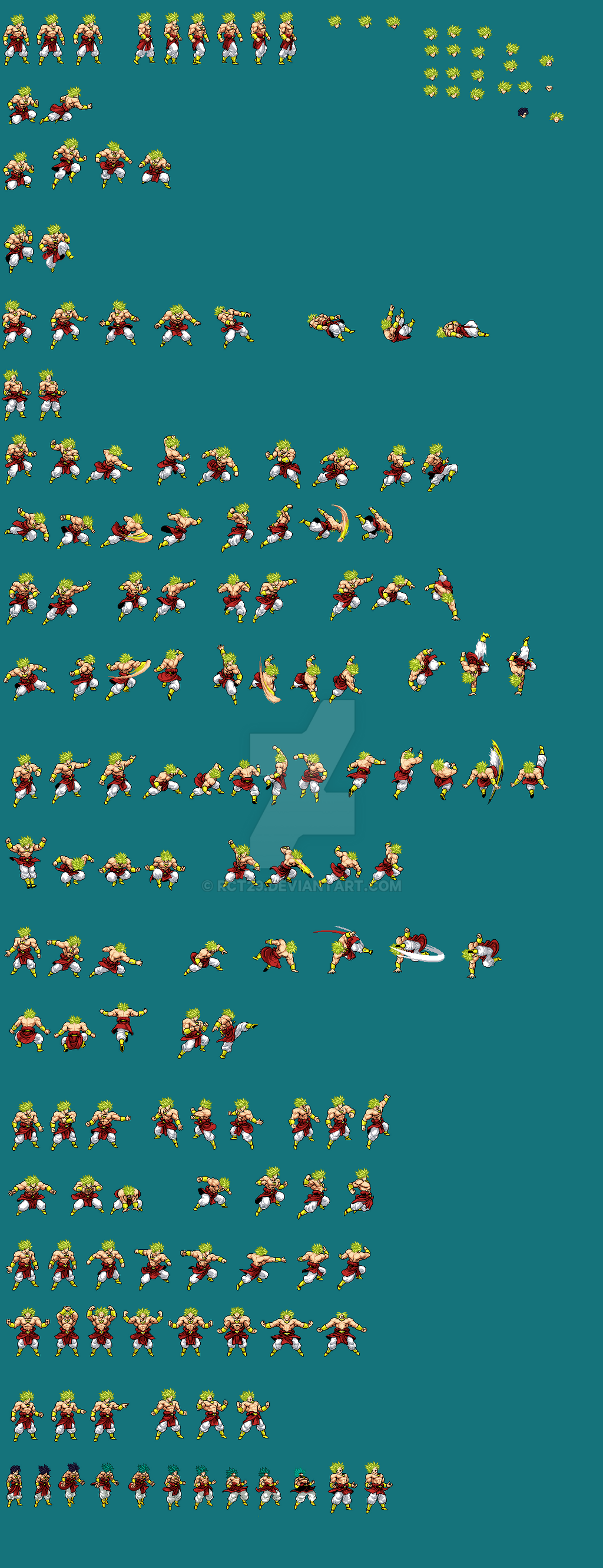 Broly Jus Sprite Sheet By Rct29 On Deviantart