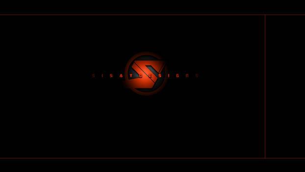 Cool, dark, wallpaper TEMPLATE for custom logo