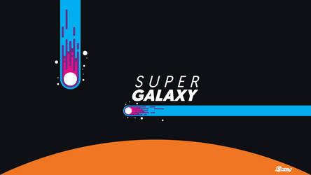 Flat design-super galaxy - wallpaper