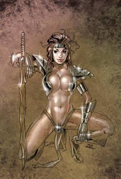 Marina in steel armor by OSK-studio