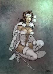 Marina in fur armor by OSK-studio
