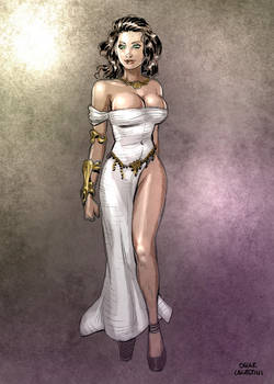 Marina in formal dress by OSK-studio