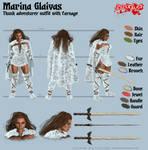 Marina Glaivas - Thunk adventurer outfit by Kervala