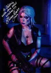 Ciri Cyberpunk cosplay signed by Irina Meier by Kervala