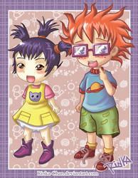 Rugrats Anime:Kimy and Chuckie by Rinka-Chan