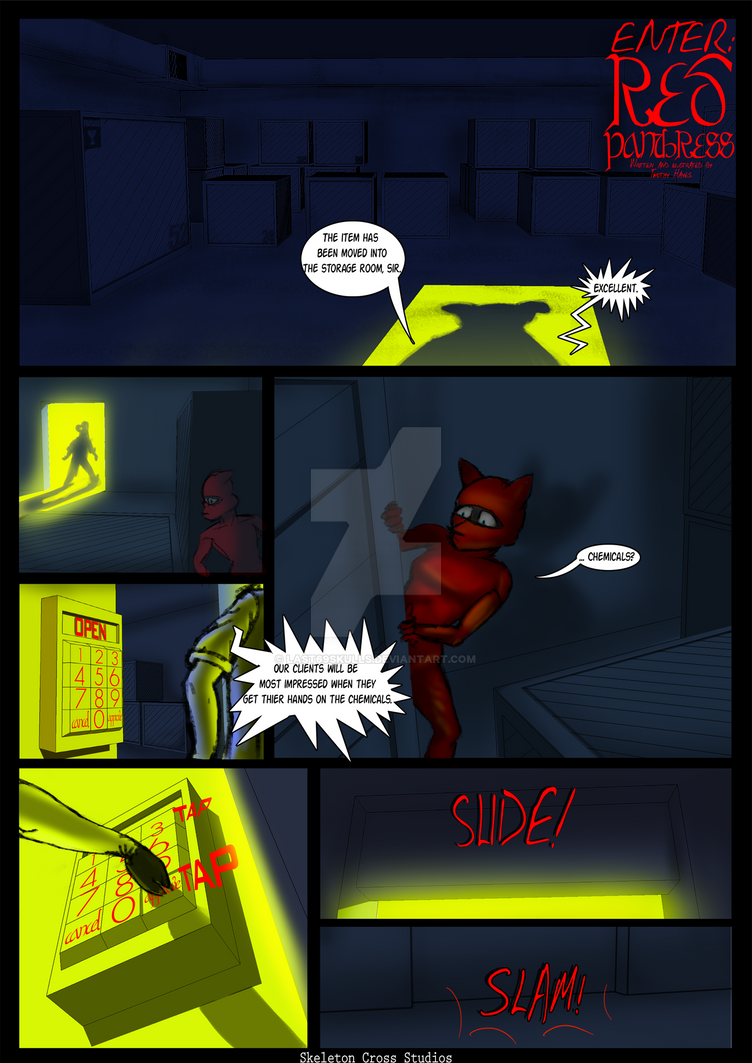 Enter: Red Panthress Comic by last69skulls