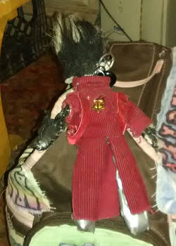 Vash Keychain Doll - Back