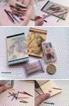 Miniature: Stationery set