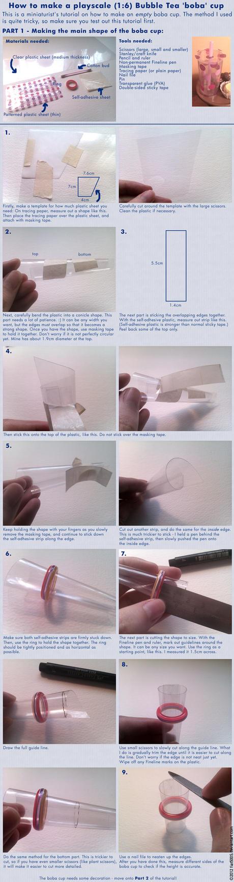 Tutorial: Miniature Bubble Tea boba cup - Part 1 by fiat500S