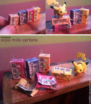 Miniature: Soya milk cartons