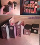 Miniature: Storage boxes (dollhouse)