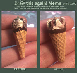 Before and After Meme: Mini ice cream