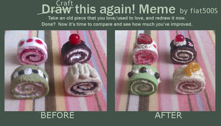 Before and After Meme: Mini cake rolls
