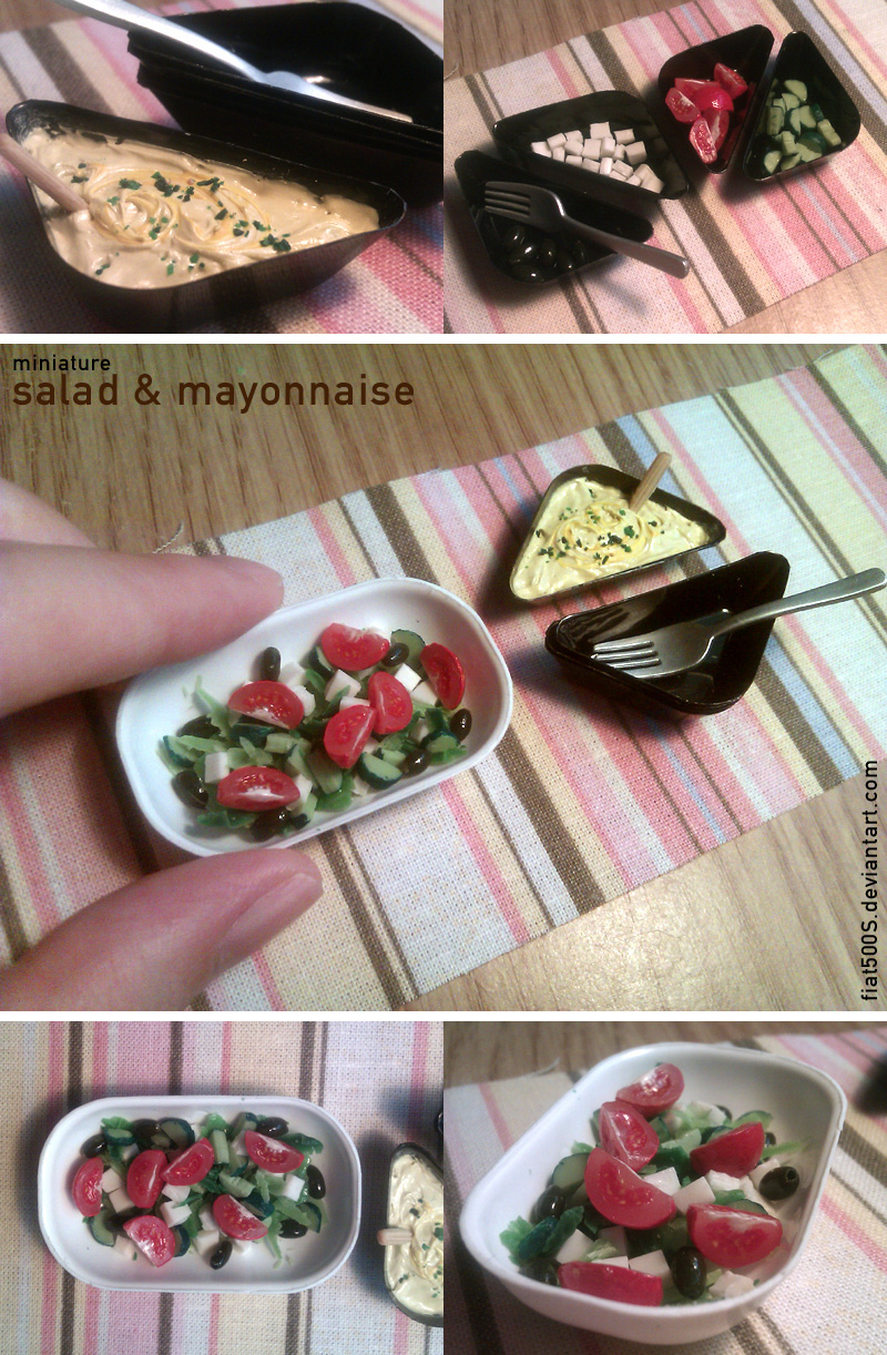 Miniature: Salad and Mayonnaise by fiat500S