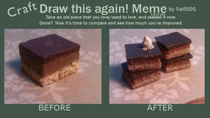 Before + After meme: Mini Millionaire's Shortbread