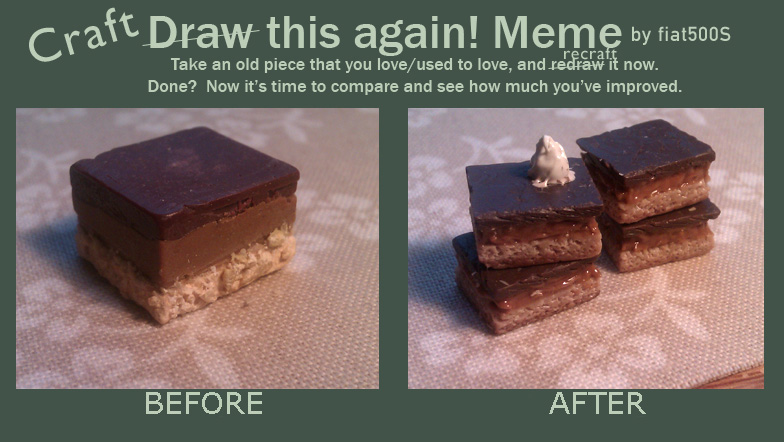 Before + After meme: Mini Millionaire's Shortbread by fiat500S
