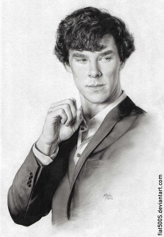 Sherlock pencil portrait by fiat500S