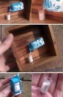 Miniature: Glass of milk by fiat500S