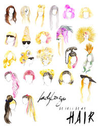 Lady Gaga, as free as my HAIR by Katie-Woodger