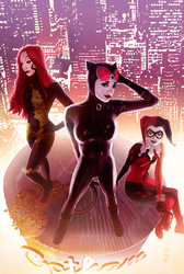 Gotham City Sirens by WScottForbes
