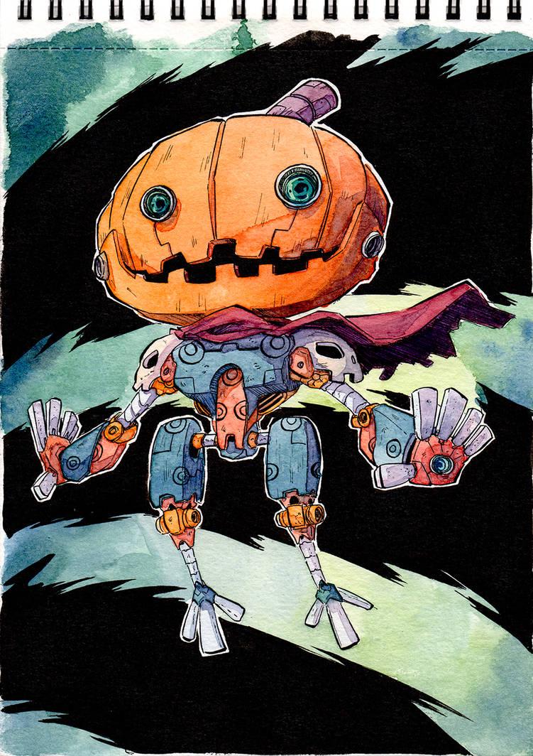 Halloween Robopumpkin-kun by Mohsqi