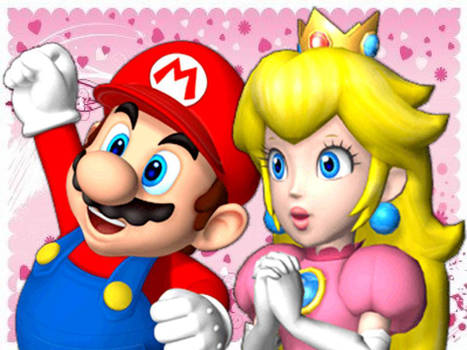 Mario Party 9 - Mario and Peach.