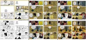 How to make a comics page, from thumbs to finish