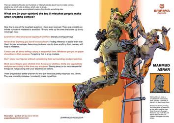 Top5 mistakes when creating comics: Mahmud Asrar